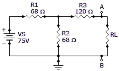 Determine IN for the circuit consisting of VS, R1, R2, and R3 shown in the given circuit.