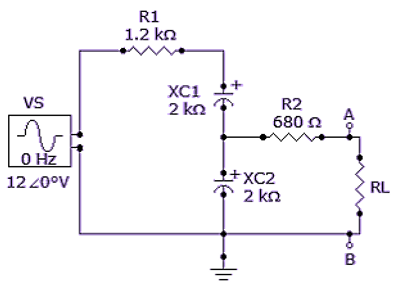 Referring to the given circuit, determine ZTH as seen by RL.
